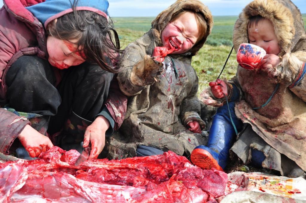 cena familiar en siberia
