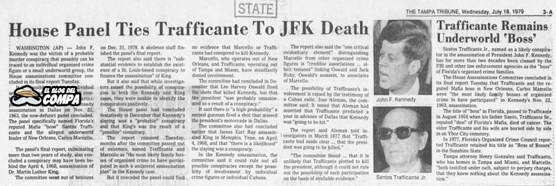 Santos Trafficante Jr. señalado en conspiración de muerte de JFK.